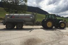 Tracteur 6520 avec la citerne à pression