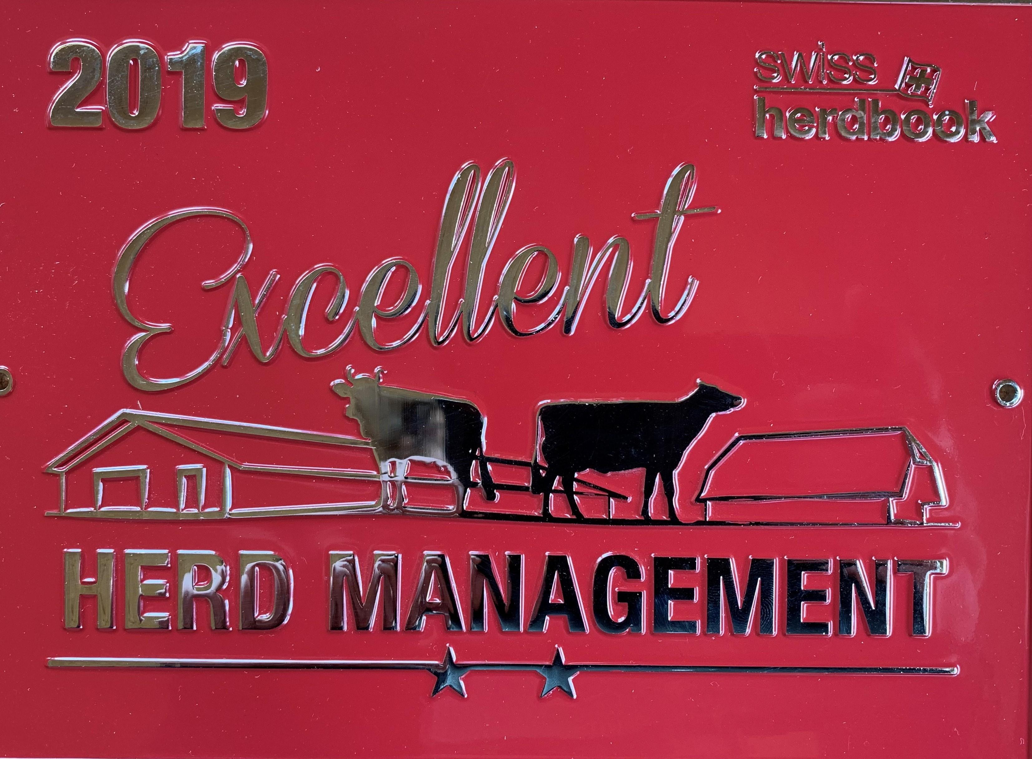 Excellent herd management 2019